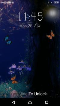Live Butterfly Lock Screen apk screenshot