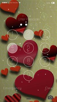 Heart Screen Lock LWP apk screenshot