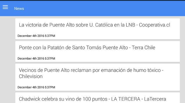 Noticias de Puente Alto apk screenshot