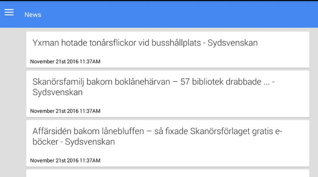 Nachrichten aus Skanör apk screenshot