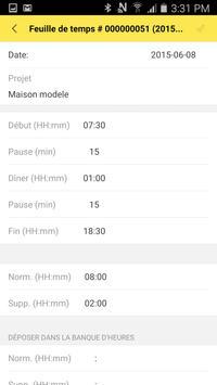 Mon Chantier Mobile employé(e) apk screenshot