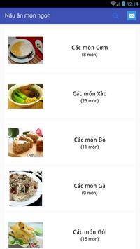 Nấu những món ăn ngon apk screenshot