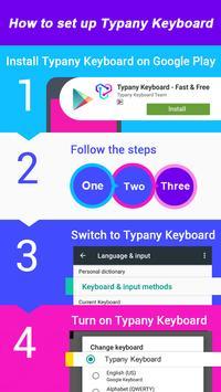 Moon Footprint Theme&Emoji Keyboard apk screenshot