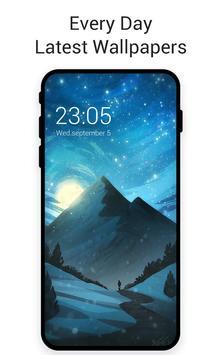 Moonlght Snowy Mountain Depth Live Wallpaper3d screenshot 1