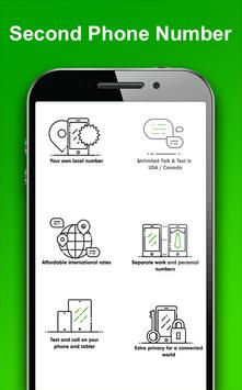 Guide for 2ndline - Second Phone Number 2018 apk screenshot