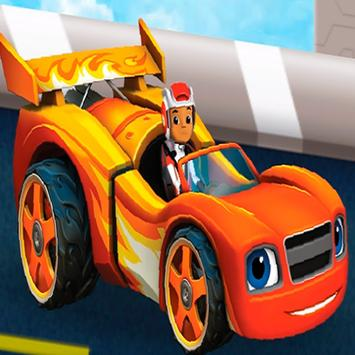 Racing Blaze And monster Machines poster