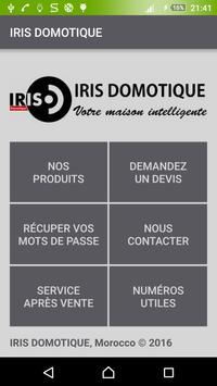 IRIS DOMOTIQUE Maroc poster