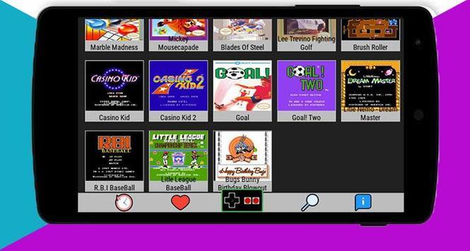 Nes Emulator : Classic games 2018 screenshot 2