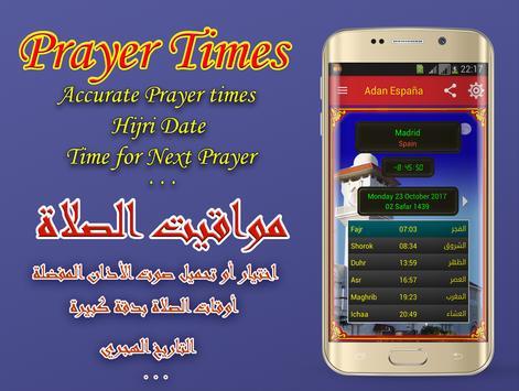 Adan Espania : Prayer times Spain poster