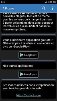 Plaque d'immatriculation Maroc screenshot 5