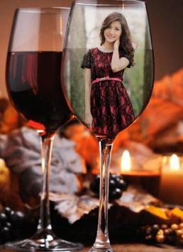 Wine Glass Photo Frame apk screenshot