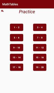 MathTables apk screenshot