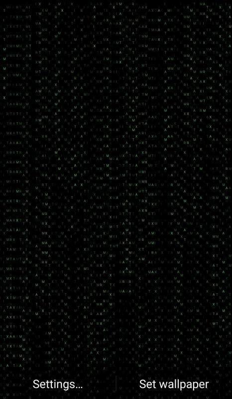 Matrix Rain Live Wallpaper Poster