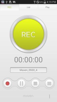 MAVEN Voice Recorder (MP3, NS) screenshot 1