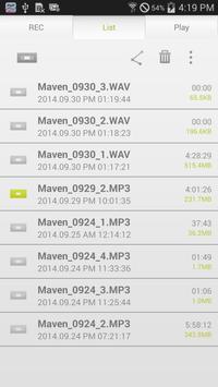 MAVEN Voice Recorder (MP3, NS) screenshot 2