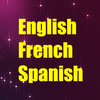 Learn English French Spanish icône