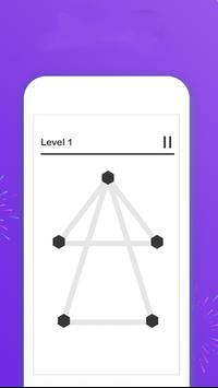 Draw 1 Line  _ a puzzle game ! screenshot 1