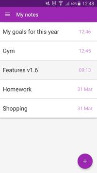 Safe Notepad notes password apk screenshot