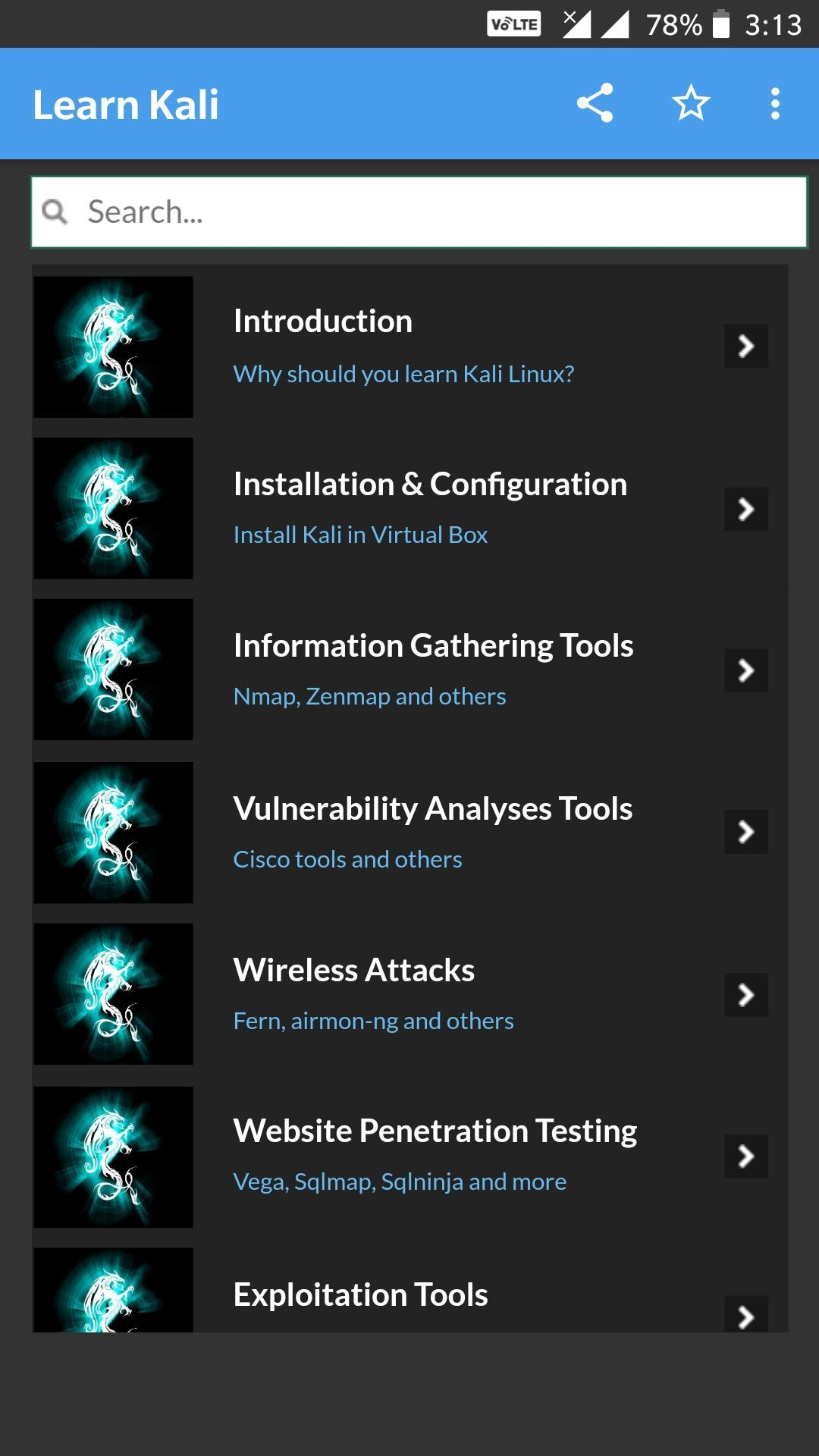 Learn Kali Linux for Android - APK Download