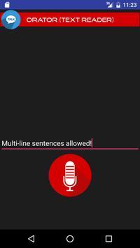 Orator (Text Reader) apk screenshot