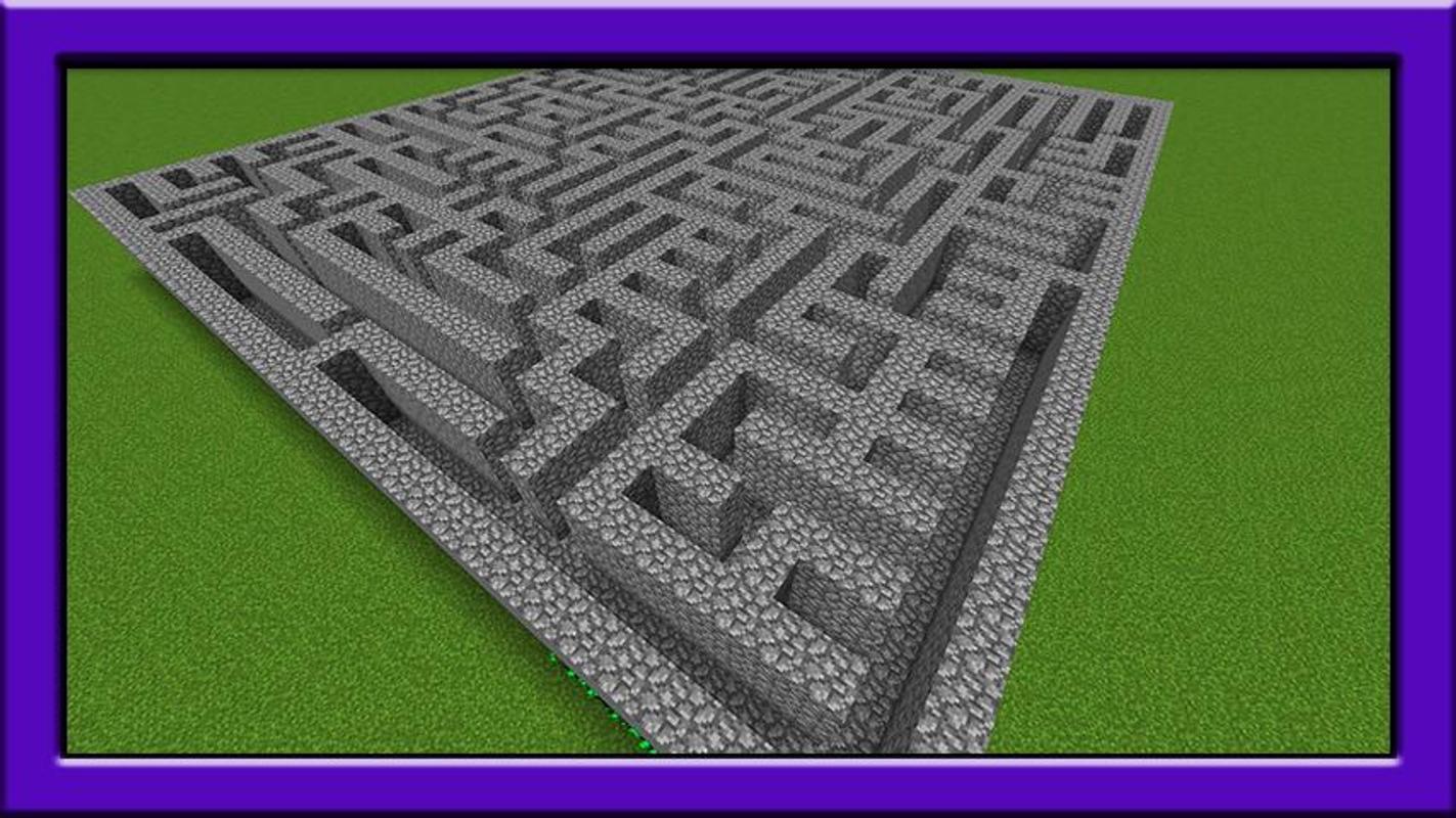 карта лабиринт в майнкрафт #11