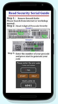 Renault Radio Code screenshot 2