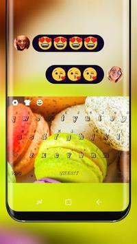 Macaron Keyboard Theme Colorful Cute Cake poster