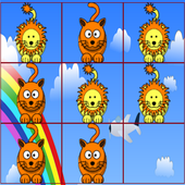 Tic Tac Toe for Kids- Animals icon