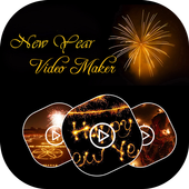 NewYear 2018 Music Video Maker With Photos icon