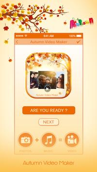 Autumnal Photo Video Maker With Music poster