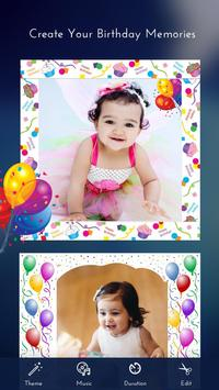 Birthday Photo Video Maker poster