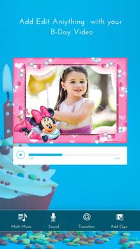 Birthday Photo Video Maker screenshot 1