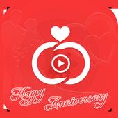 Anniversary Photo Video Maker icon