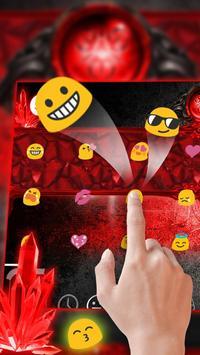 red gem ruby keyboard magic jewel crystal power apk screenshot