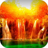 Magical Waterfall Video LWP icon