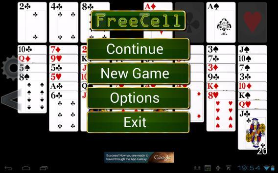 FreeCell Solitaire HD screenshot 3