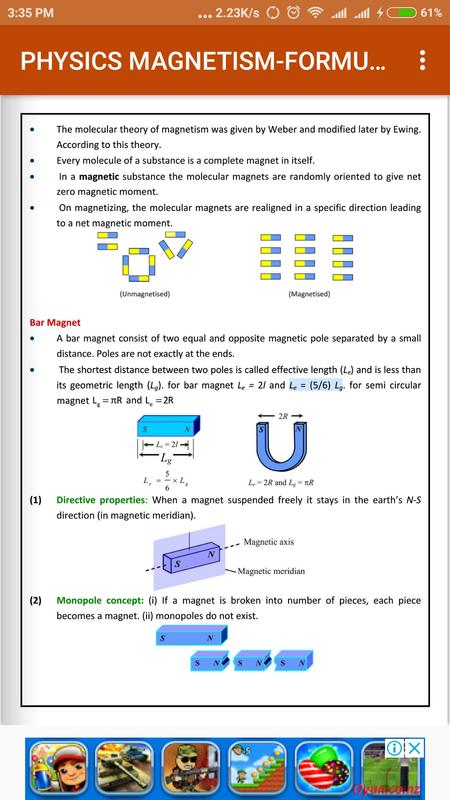 Physics magnetism formula book ebook for android apk download physics magnetism formula book ebook screenshot 2 fandeluxe Gallery