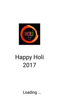 2017 Holi Sms poster