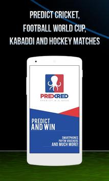 PredCred - Live Match Prediction App poster