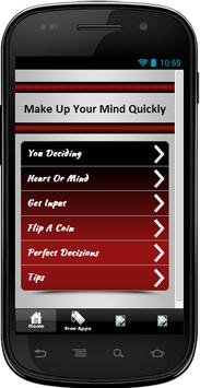 Make Up Your Mind Quickly poster