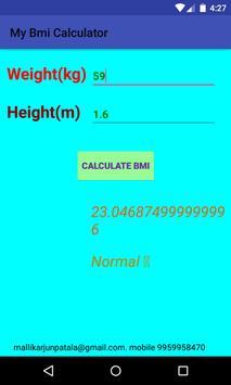 BMI Calculator Absolute Weight screenshot 4