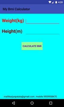 BMI Calculator Absolute Weight poster