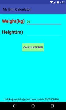 BMI Calculator Absolute Weight screenshot 1