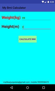 BMI Calculator Absolute Weight screenshot 2