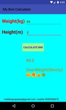 BMI Calculator Absolute Weight screenshot 3