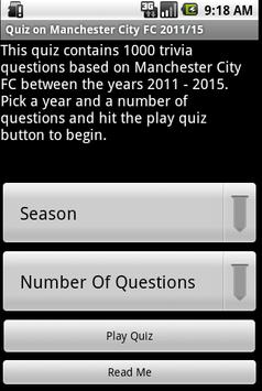 Quiz about Manchester City FC poster