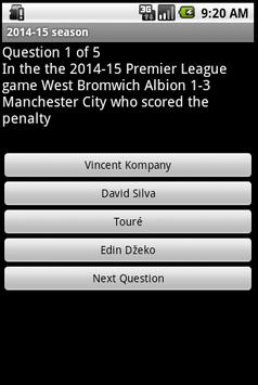 Quiz about Manchester City FC apk screenshot
