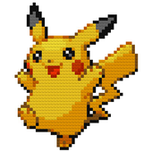 Color by Number Pokemon Pixel Sandbox icon