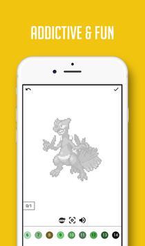Color by Number Pokemon Pixel Sandbox screenshot 1