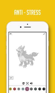 Color by Number Pokemon Pixel Sandbox screenshot 2